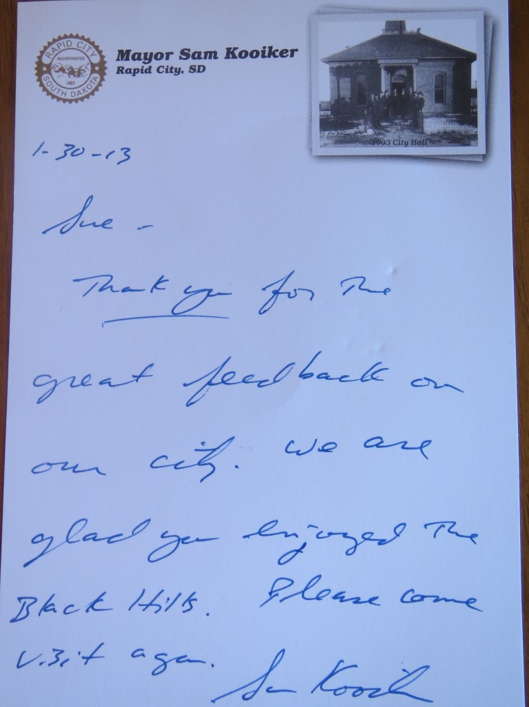Letter from Rapid City's mayor